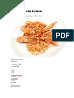 Spaghetti Ala busara