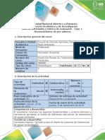 Guía de Actividades y Rúbrica de Evaluación - Fase 1 - Reconocimiento de Pre-saberes