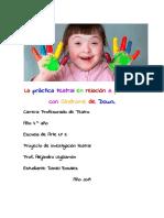 La Práctica Teatral en Relación a Personas Con Síndrome de Down Final