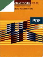 Telektronikk Broadband Access Networks
