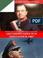 Constitución de 1980 y Binominal