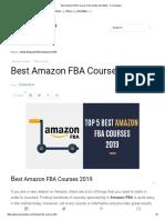 Best Amazon FBA Courses  the Golden List 2019