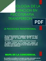 Psicología de la intervención en psicoterapia transpersonal