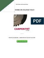 carpentry by floyd vogt
