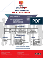 Walk in Interview for SDI Protege Program!