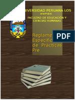 Reglamento de Prácticas Pre Profesionales Nuevo. 2017doc