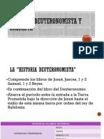 HISTORIA DEUTERONOMISTA Y CRONISTA