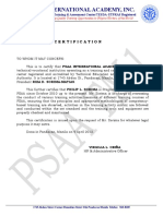 3rd Party Certification Sample (With Letterhead)