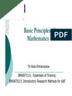 Math Review 1
