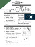 Cupcake Essential Oil Diffuser Instruction Manual