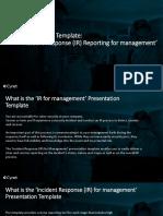 Presentation Template IR for Management