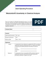 Measurement Uncertainty Chemical