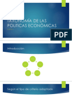 TAXONOMIA DE LAS POLITICAS ECONOMICAS