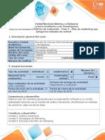 Guía de actividades y rubrica de evaluación - Paso 5 - Plan de marketing que incluya los métodos de control.doc