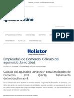 Empleados de Comercio_ Cálculo del aguinaldo Junio 2015.pdf