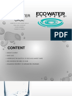 Eco Water Assignment