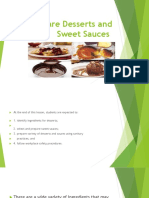 Prepare Desserts and Sweet Sauces