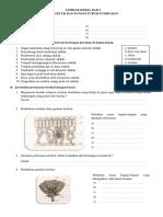 Lembar Kerja IPA Bab 3 Kelas 8