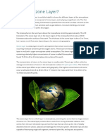 Ozone Layer and Causes, Effects and Solutions to Ozone Depletion