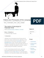 The Notion of Stereotype in Language Study _ History and Philosophy of the Language Sciences