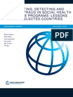 Preventing, Detecting and Deterring Fraud in Socail Health Insurance Programs Lessons From Selected Countries