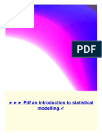 1143443 PDF an Introduction to Statistical Modelling