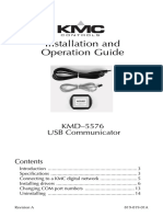 Kmd-5576 Converter Operation and Installation