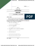 CBSE Class 8 English Worksheet 21