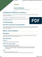Installing Zend Framework o...