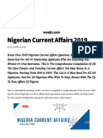 1500+ Nigerian Current Affairs Past Questions and Answers for Job Interviews &Aptitude Tests
