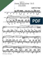 Villa-Lobos H. - Bachianas Brasileiras No. 5. Aria - Flute & Guitar Part