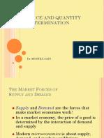 Price and quantity determination