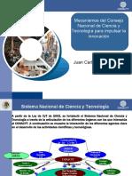 Mecanismos del Consejo Nacional de Ciencia y Tecnología para Impulsar la Innovación 2010
