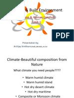 Climate & Built Environment-presentation