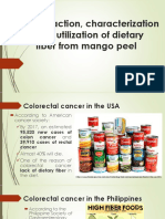 Extraction, Characterization and Utilization of Dietary Fiber