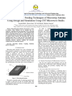 2014 Study the Various Feeding Techniques of Microstrip Antenna Using Design and Simulation Using CST Microwave Studio