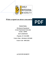 Report on Stress Concentration Factors