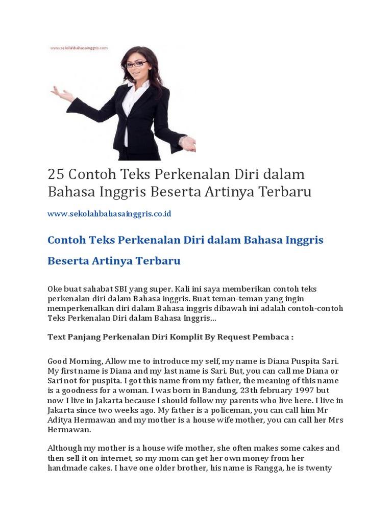 25 Contoh Teks Perkenalan Diri Dalam Bahasa Inggris Beserta Artinya Terbaru Indonesian Language
