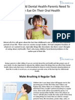 10 Tips for Child Dental Health Parents Need Keep Eye Their Oral Health