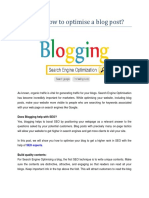 Here is how to optimise a blog post?