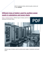 Battery Types Used for Auxiliary Power Supply in Substations and Power Plants (1)