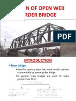 Design of Open Web Girder Bridge