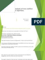 Conflict Media Reporting Assingment