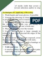 dressing and bandaging