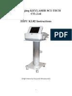 HIFU KL02 User Manual