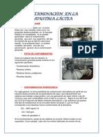 Contaminación en La Industria Láctea(1)