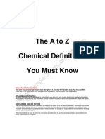 The a to Z Chemical Definitions You Must Know