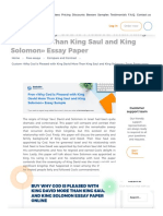 Why God is Pleased With King David More Than King Saul and King Solomon - Read a Free Compare and Contrast Essay at ExclusivePapers.com
