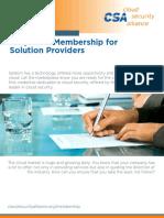 Csa Solution Provider Membership Brochure