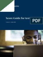 Score guide PTE